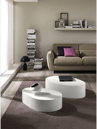 Tavolino bianco opaco mod.zamagna lazio