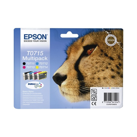 Multipack 4 Cartucce Epson T0715