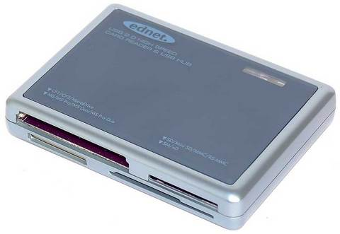 Ednet multi card reader & usb 2.0 hub