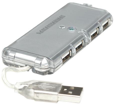 Hub usb 2.0 tascabile 4 porte