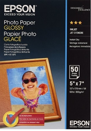 Carta fotografica glossy epson bianco