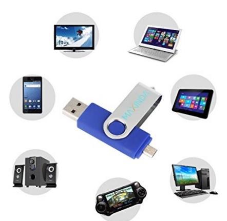 Chiavetta pen drive duale per pc e smartphone