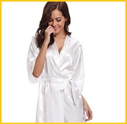 Intimo sposa bianco con vestaglia