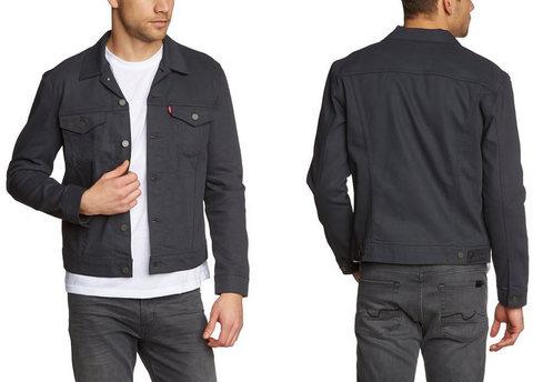 Giacca in jeans levi's grigio scuro