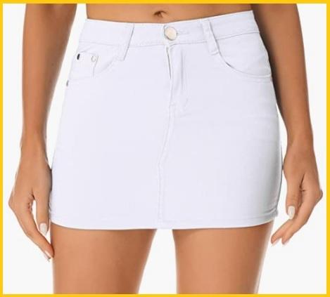 Minigonna in jeans con cerniera