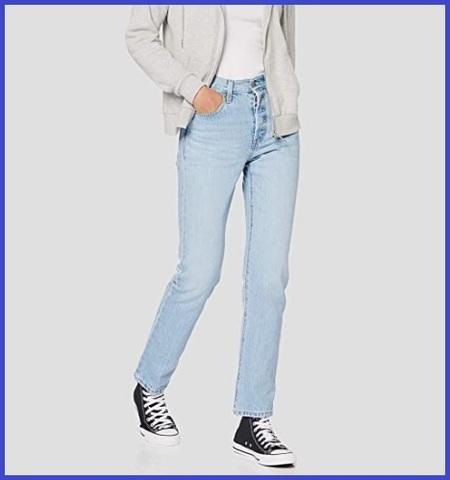 Jeans levi's 501 per donna con risvolto