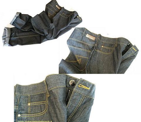 Jeans taglie grandi in tessuto leggero