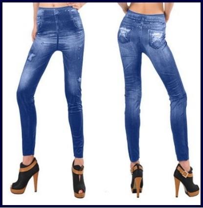 Leggings a forma di jeans