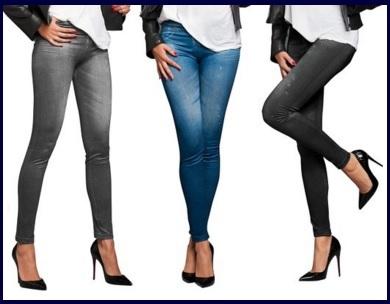Leggings skinny a forma di jeans