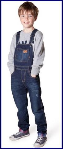 Salopette in jeans per bambini