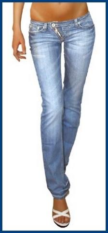 Jeans da donna con zip laterale