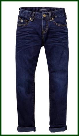 Jeans scuri per bambini 99% cottone