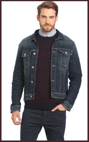 Giacca In Jeans Uomo Con Tasconi