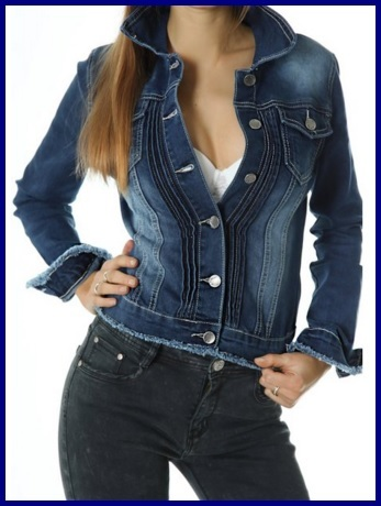 Giacca in jeans scura per donna