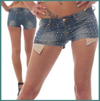 Pantaloncini in jeans per donna