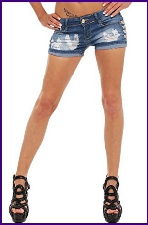Pantaloncini da donna in jeans