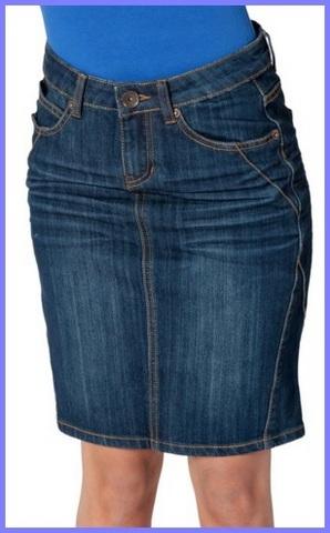 Gonna per donna in jeans denim