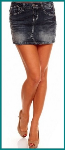 Minigonna in jeans fashion