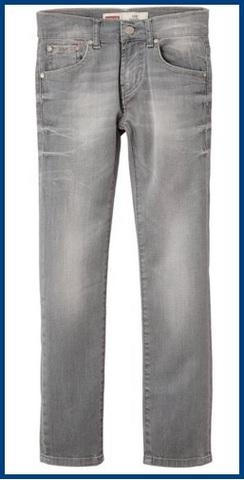 Jeans per bambini e ragazzi della levi's grigi