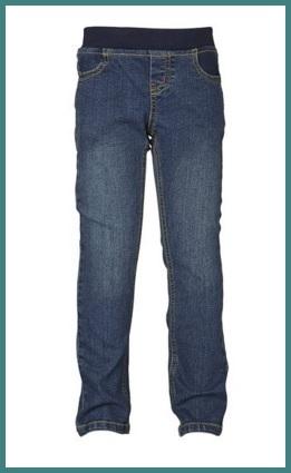 Jeans con elastico sulla vita