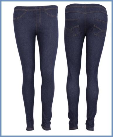 Leggings effetto jeans per ragazze