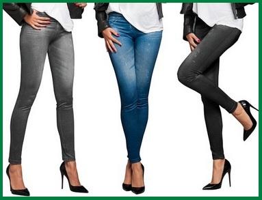 Leggings Effetto Jeans Tre Modelli Differenti