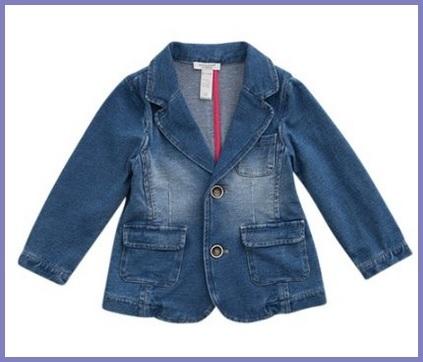 Giacchetta in jeans per bambine