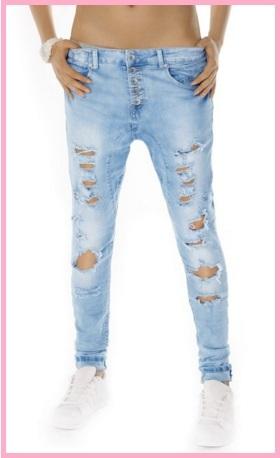 Jeans rotti alla moda chiari