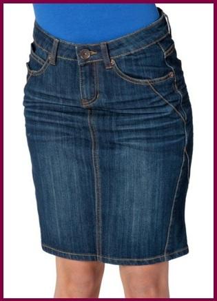 Gonna in jeans comoda per donna