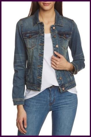 Giacca in jeans classica manica lunga