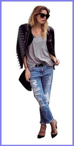 Jeans per ragazze alla moda