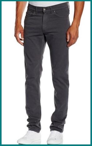 Jeans regular fit color grigio per uomo