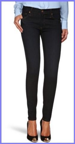 Leggings A Forma Di Jeans Scuri Ed Eleganti