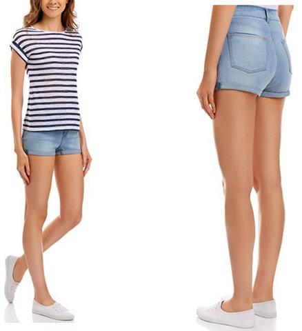 Pantaloncini corti jeans per ragazza classici