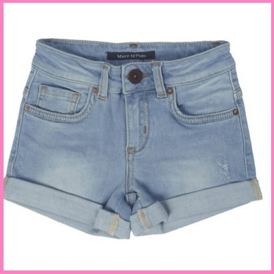 Pantaloncini jeans corti per bambina