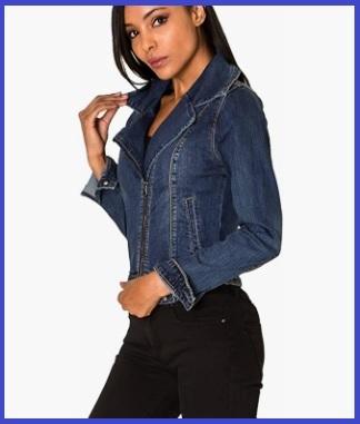 Giacca in jeans con cerniera laterale