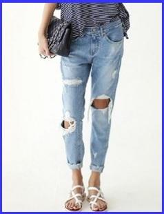 Jeans da donna stile unico alla moda skinny