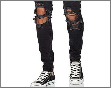 Jeans strappati stretti