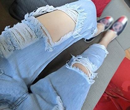 Jeans strappati larghi