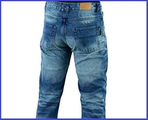 Jeans moto uomo con protezioni kevlar