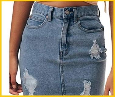 Gonne in jeans vita alta
