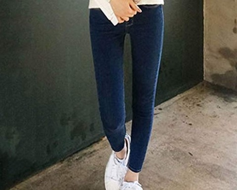Jeans vita alta skinny