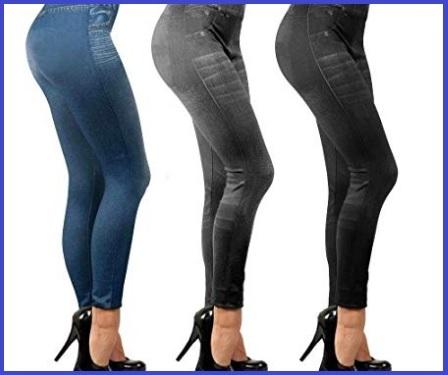 Leggings Effetto Jeans Da Donna