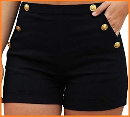 Pantaloncini in jeans neri ragazza