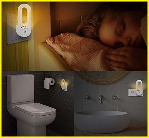 Lampada notturna bagno automatica