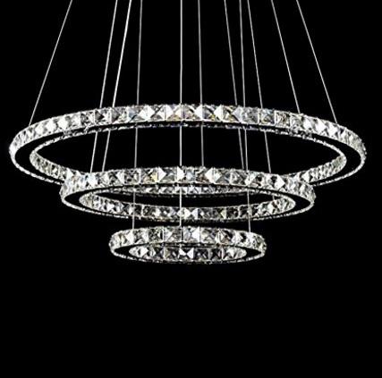 Lampadario circolare 3 anelli elegante