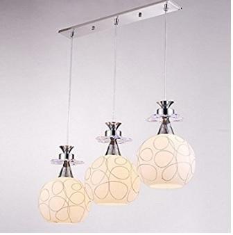 3 pendenti lampadario unico e spettacolare