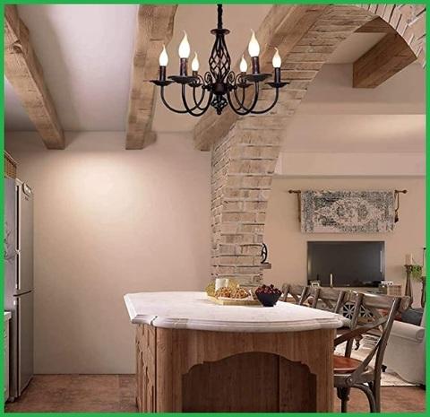 Lampadario minimalista in ferro battuto elegante