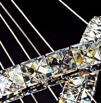 Lampadario di lusso moderno con due anelli