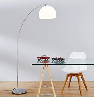 Lampada lounge arco e paralume